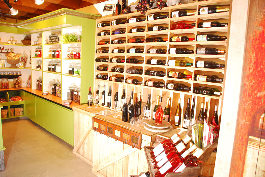 A view of our wine selection at our Main Farm