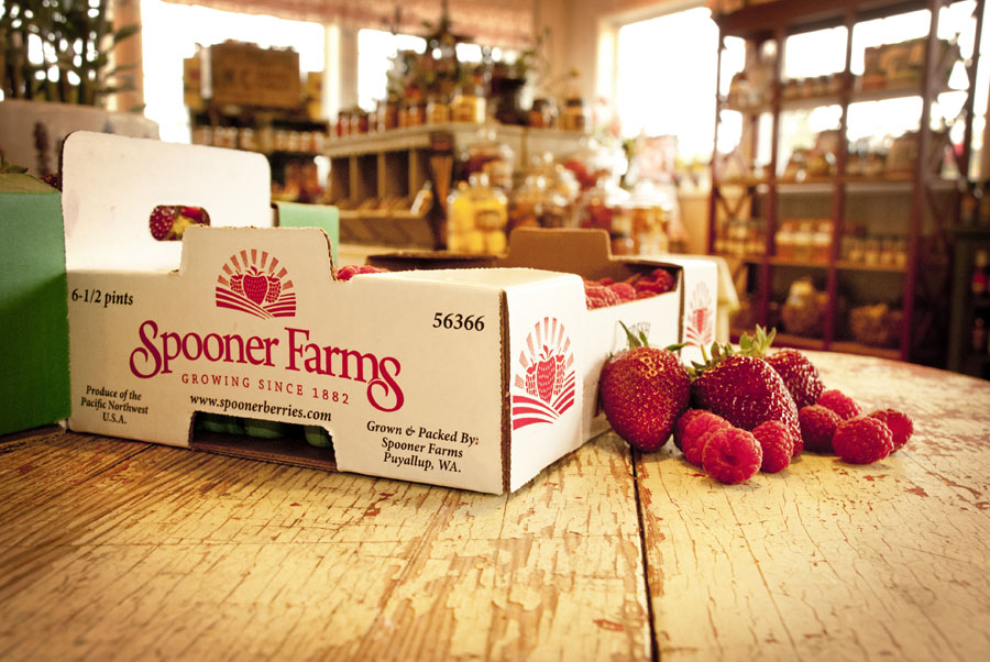 Fresh berries in our produce market and gift shop at our main farm.