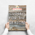 Closed for the season 2020